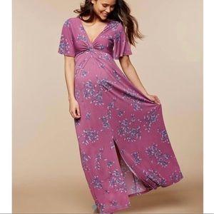 Motherhood Maternity Purple Floral Maxi Dress